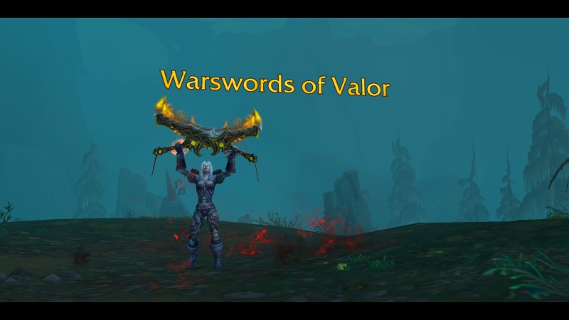 Warrior with Warswords of Valor
